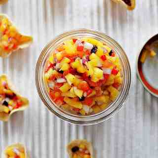 Spicy Mango Cranberry Salsa