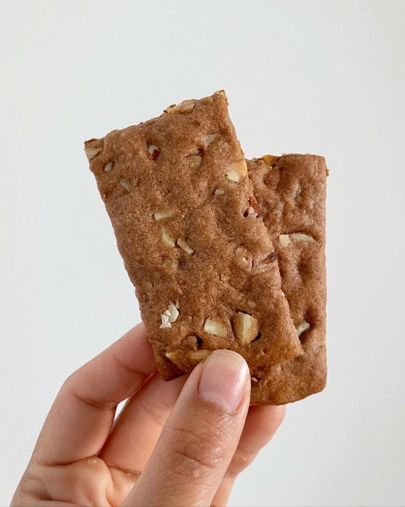 sourdough discard almond cacao crackers