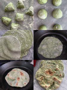 Sourdough Discard Spinach Tortillas