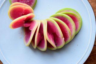 AccordianCut Spiralized Watermelon Radishes-016