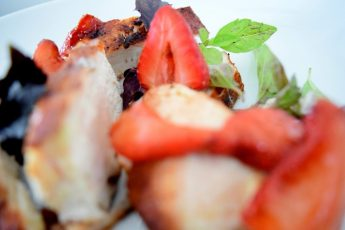 Cinnamon Paprika Crusted Chicken and Balsamic Roasted Strawberries-023