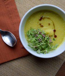 Creamy Cardamom Lemon Soup-004