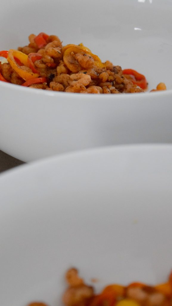 Balsamic Glazed Shrimp and Peppers
