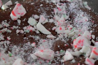Dark Chocolate Peppermint Brownies-005