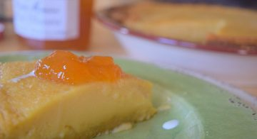 Country Cottage Peach Pudding Pie-029