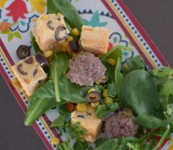 Green Chili Meatballs with Polenta Croutons-007