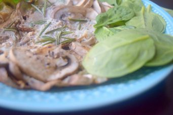 Pomegranate Rosemary Mushroom Fritatta-005