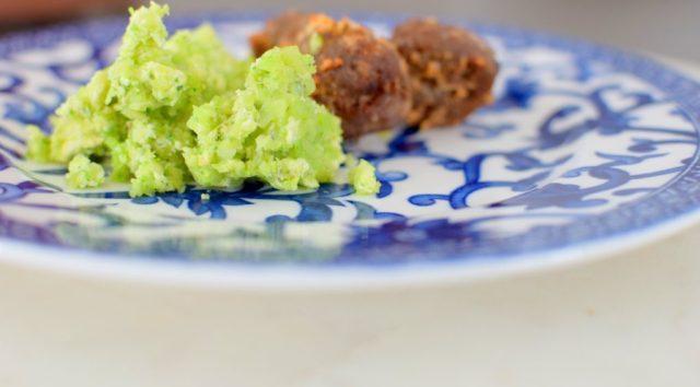 Basil Broccoli Mash & Bison Blue Balls-001