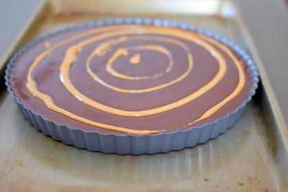 Chocolate Peanut Butter Pretzel Tart-011
