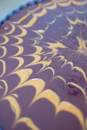 Chocolate Peanut Butter Pretzel Tart-017