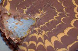 Chocolate Peanut Butter Pretzel Tart-022
