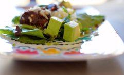 Crispy Cheddar Bacon Balls and Avocado Salad-001