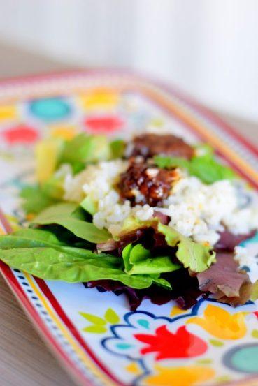 Crispy Cheddar Bacon Balls and Avocado Salad-004