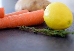 Lemon Carrot Mash and Roasted Pork Loin