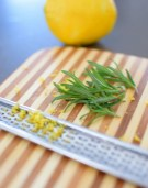 Lemon Rosemary Shortbread Cookie Coins
