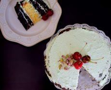 Rustic Pistachio Choclolate Vanilla Layer Cake-018