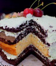 Rustic Pistachio Choclolate Vanilla Layer Cake-019