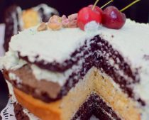Rustic Pistachio Choclolate Vanilla Layer Cake-020