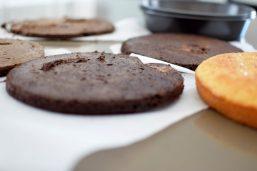 Rustic Pistachio Choclolate Vanilla Layer Cake