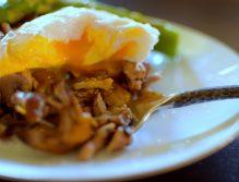 Wild Mushroom Asparagus Poached Egg-013