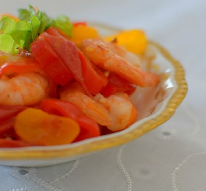 Spicy Lemon Tomato Broth Poached Shrimp-008