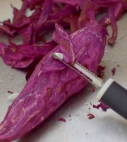 jamaican-jerk-shrimp-and-purple-sweet-potato-pancakes