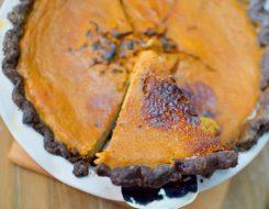 Maple Pumpkin Chocolate Bruleed Pie-025