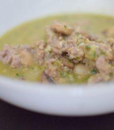 Italian Mushroom Pesto Soup-004