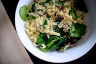 Spinach Sausage Rosemary Fettucine-007