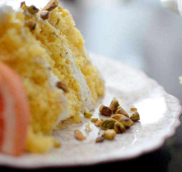 Grapefruit Sage Vanilla Cake & Pistachio Chantilly-019