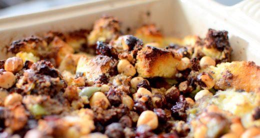 Crispy Cornbread Crouton Stuffing-008