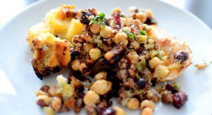 Crispy Cornbread Crouton Stuffing-011