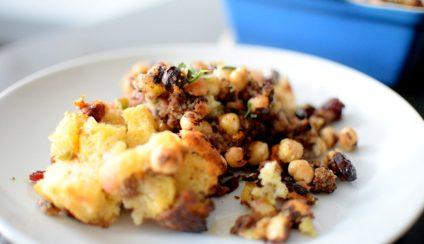 Crispy Cornbread Crouton Stuffing-014