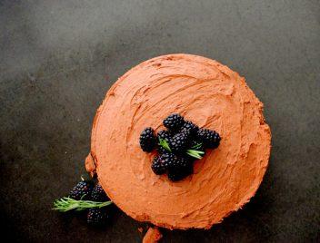 Triple Chocolate Blackberry Rosemary Silk Cake-017