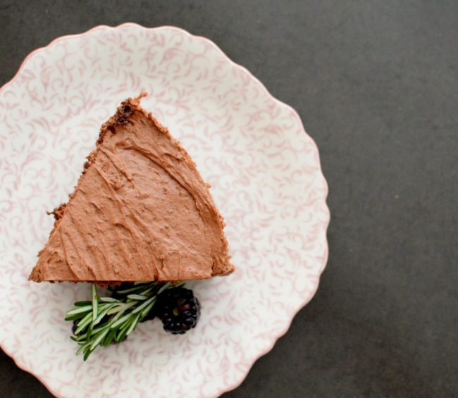 Triple Chocolate Blackberry Rosemary Silk Cake-021