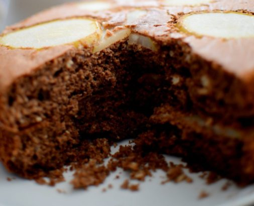 Espresso Chocolate Pear Cardamom Cake-015