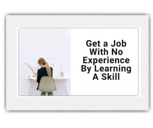 Get a Job With No Experience By Learning A Skill