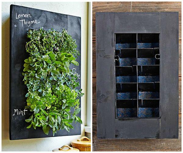 Noshtopia Urban Gardener Chalkboard Herb Wall Planter