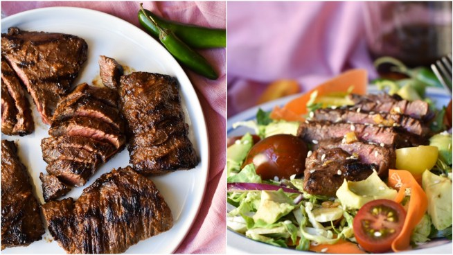Ginger Miso Steak with Brussels Sprout Slaw | Cravings & Crumbs
