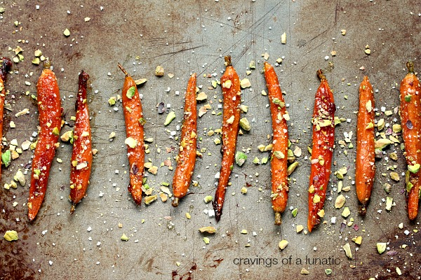 Roasted Carrots With Honey And Pistachios