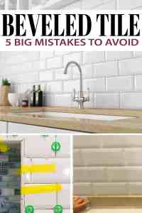 Installing Beveled Subway Tile