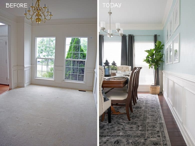 diy small living room makeover leather sofa houzz home decor ideas from our renovation makeovers dining before and after