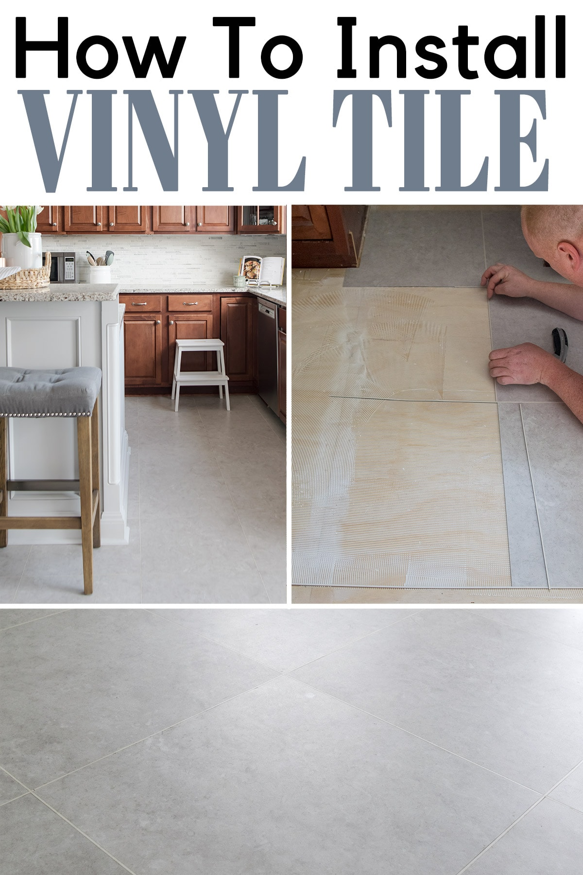 install luxury vinyl tile on floors