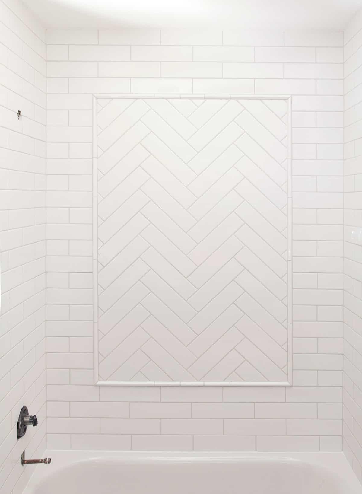 how to tile a herringbone pattern
