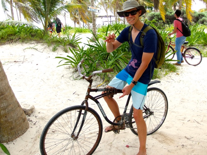Martin Biking in Tulum