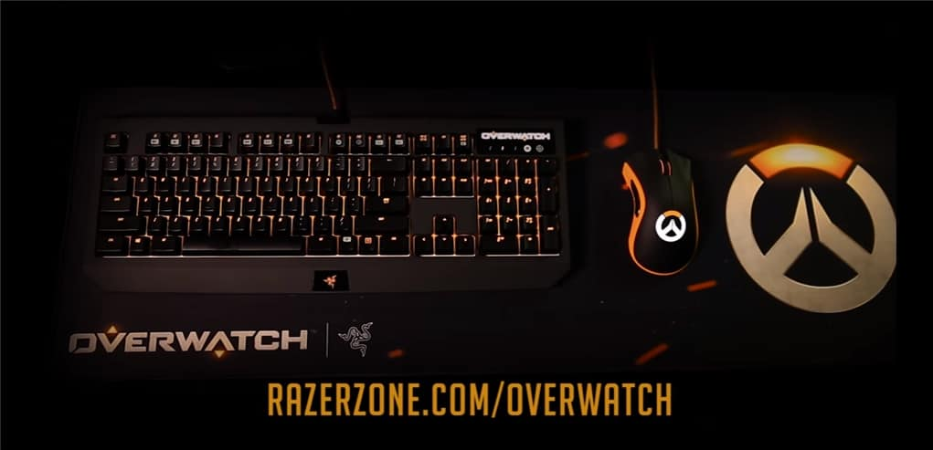 Razer Overwatch Keyboard Mouse Headset And Mouse Pad