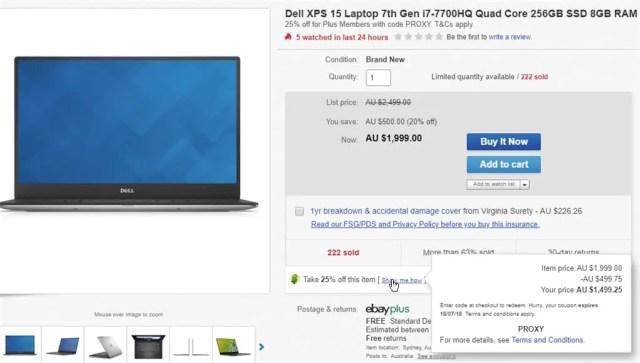 eBay listing discount