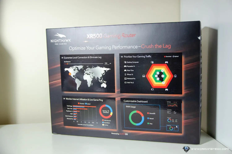 hight resolution of netgear nigthhawk pro xr500 gaming router packaging netgear nigthhawk pro xr500 gaming router packaging