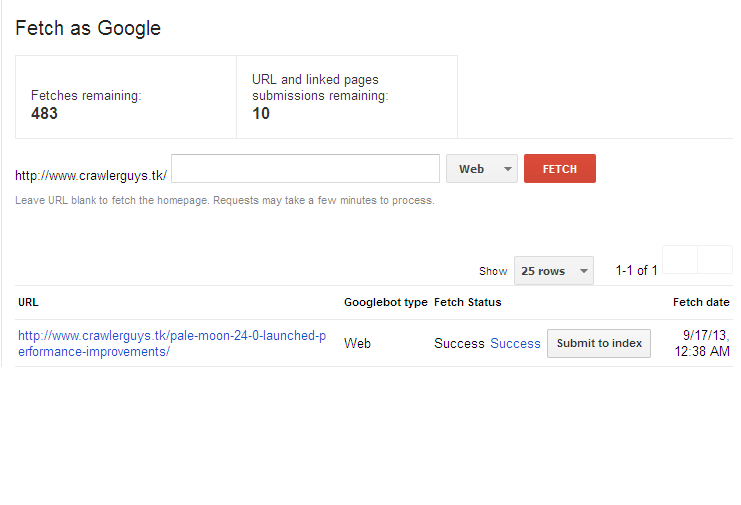google indexing 5
