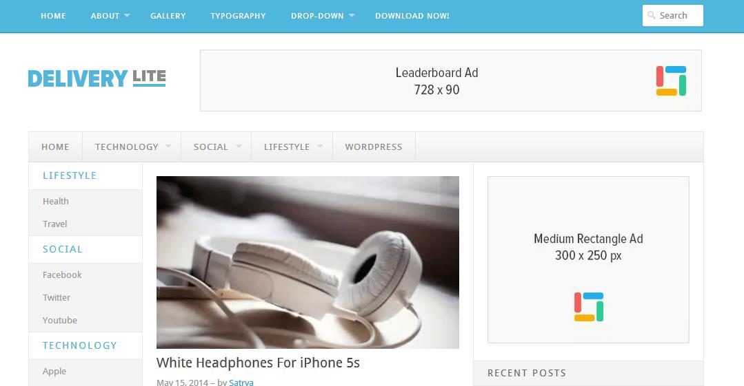 Delivery Lite Free WordPress Magazine Theme By Theme Junkie